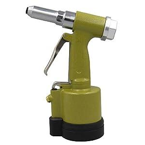 Pistola de clavos neumática,Baugger- Remachadora neumática hidráulica de aire Remachadora de ahorro Tuerca pistola Inserto de clavo Herramienta de mano con juego de llaves