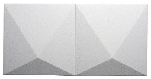 Decosa Creativfliese Luxor - 3D Fliese in weiß für Wand oder Decke - 4 Packstück à 5 Fliesen 48 x 24 cm (= 2,32 qm)