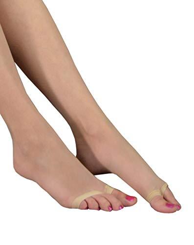 99b73124f0c Venus - Open Toe Pantyhose sheer to waist peep toe transparent nylons -  Beige -