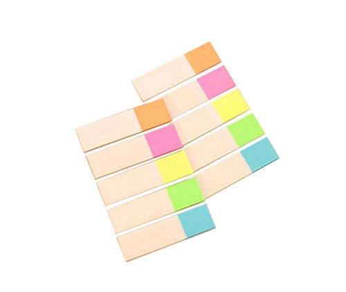 Toruiwa 500 Hojas Papel Fluorescente autoadhesiva Memo Pad Sticky Notes Marcadores Punto it Marker Memo Sticker Oficina Suministros de la Escuela 4.5 * 1.2 cm