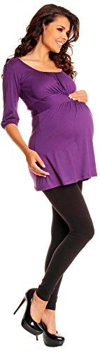 Zeta Ville - maternité - Top - Tunique grossesse - à manches 3/4 - femme - 940c Pourpre