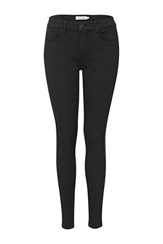 Promiss Damen Hosen Einfarbig Puket Mid Waist Skinny-Hose 5-Pocket-Modell