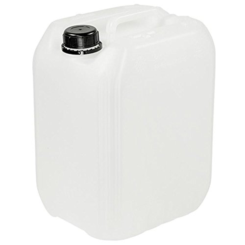Kanister 10 Liter mit schwarzem Deckel