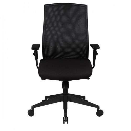 AMSTYLE Bürostuhl DAVID Bezug Stoff Schwarz Schreibtischstuhl Design 120 kg Chefsessel Wippfunktion ergonomisch Polster Drehstuhl niedrige Rücken-Lehne höhenverstellbar mit Armlehnen Niedriglehner