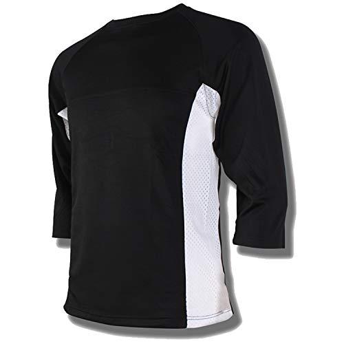 Przewalski Herren Downhill Jersey, MTB Männer T-Shirt, Mountainbike/Motocross Atmungsaktives Und Schnell-Trocknend Kurzarm-Trikot, Enduro/Offroad/Gelände/Quad Cross Kleidung, Rot (S, Schwarz)