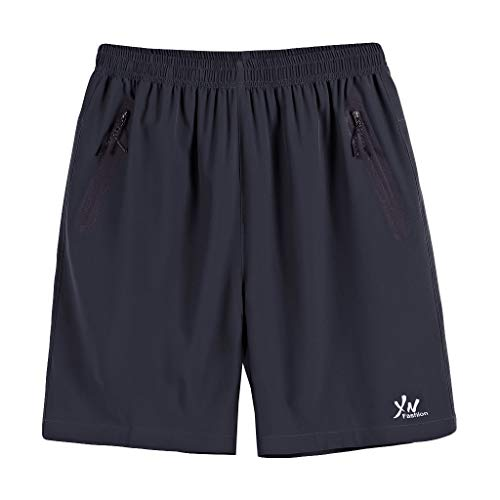 VPASS Pantalones Hombre,Verano Casual Moda Pantalones Tallas Grandes 10XL Deportivos Color sólido Pantalon...
