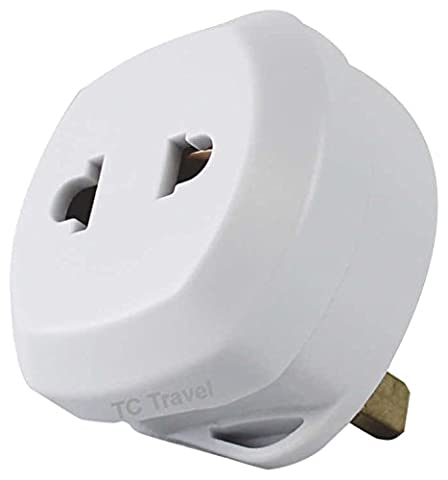 UK 2 to 3 Pin Fuse Adaptor Plug - TC Travel