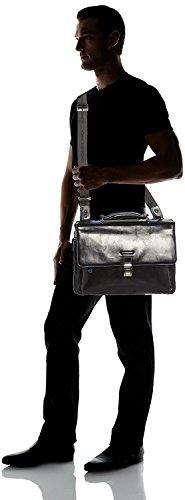 31G76ZbTOhL - Piquadro Blue Square maletín fino expanible portaordenador concompartimento portaiPad®/iPad®Air - CA3111B2