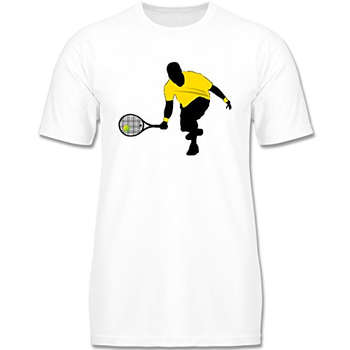 Sport Kind - Tennis Squash Kniend - 98-104 (3-4 Jahre) - Weiß - F140K - Jungen T-Shirt