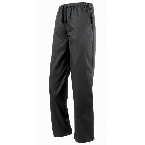 Premier - Pantaloni da Chef Girovita Elasticizzato - Unisex (M) (Nero)
