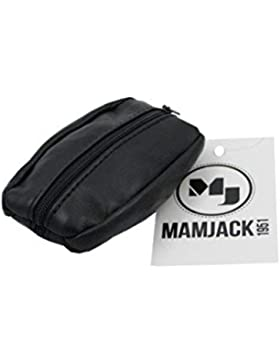mamjack–Monedero de hombre–de Piel auténtica–negro–para bolsillos de pantalón o chaqueta