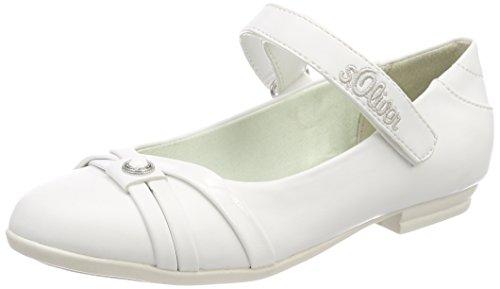 s.Oliver Mädchen 42800 Mary Jane Halbschuhe, Weiß (White), 35 EU
