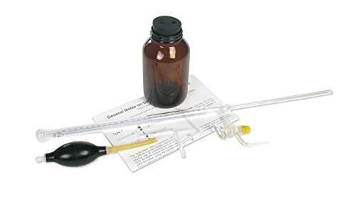 American Educational vetro borosilicato 25ml Buretta automatica, con rubinetto e ambra contenitore di vetro smerigliato