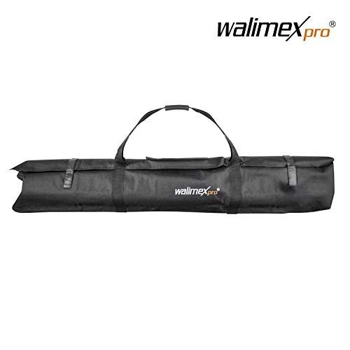 Walimex pro Stativtasche Vario 120 - für 3 Stative bis 120 cm, max. 120 x 20 x 20 cm, faltbar, auch für große Studiostative, Lichtstative, Heavy Duty Stative und Hintergrundsysteme, mit Tragegurt