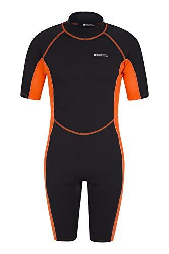 Mountain Warehouse Shorty Herren-Tauchanzug in voller Länge - bequemer, einteiliger Neopren-Surfanzug, leicht schließender Reißverschluss - für Sommerferien, Tauchen Orange Large/X-Large -