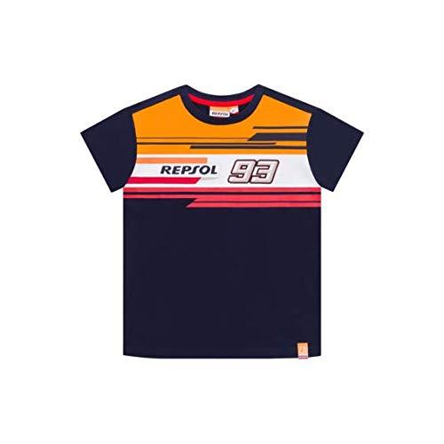 REPSOL HONDA RACING 2019 Marc Marquez #93 - Maglietta per Bambini e Ragazzi, Blue, Kids (Ages 4-5 Years)