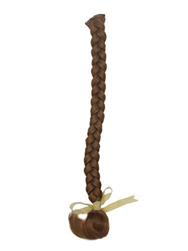 WIG ME UP - SA101-27L Haarteil Zopf geflochten lang Clip-In mit Mikroclip Dunkelblond Erdbeerblond