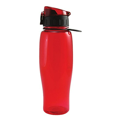Liquid Logic Quencher: Tritan Bottle with Flip-Top Lid and Carry-Loop, 24 oz., Red