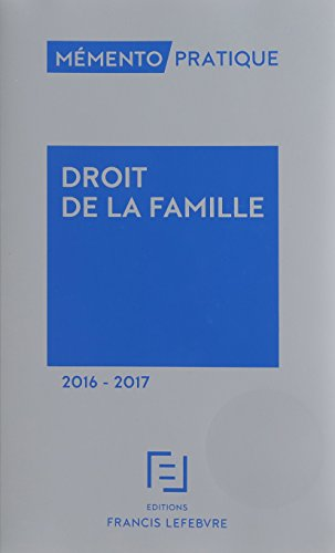 MEMENTO DROIT DE LA FAMILLE 2016-2017