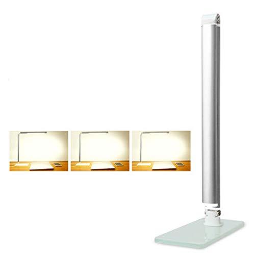 XB-XIAO Führte Schreibtischlampe TischlampenEye-Caring berührungsempfindliche Steuerleselampe für Office Home Reading WorkB1 Standard dritten Gang Sand Silber -