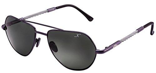 Preisvergleich Produktbild Xezo Freelancer Sonnenbrillen (Größe: Large) aus dunkelgrauem Echtglas (UV 400), Titan & Stahldrähte mit Polarisationskurve 6