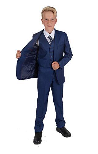 Cinda 5 Stück Boy Anzüge Hochzeit Anzug Junge Seite Partei-Abschlussball -Klagen Blau 128-134