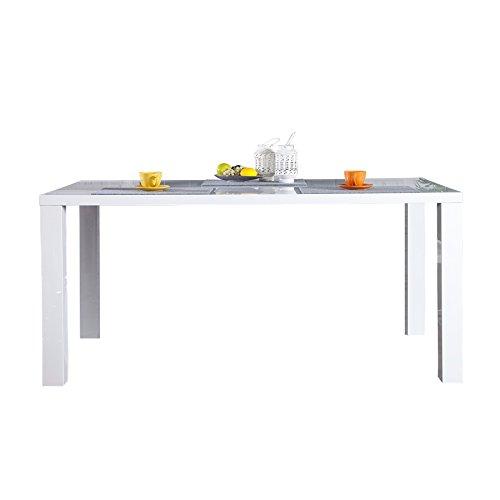 High-esstisch (Design Esstisch Lucente weiss High Gloss 160cm Küchentisch weiß Esszimmer Tische Hochglanz Konferenztisch)
