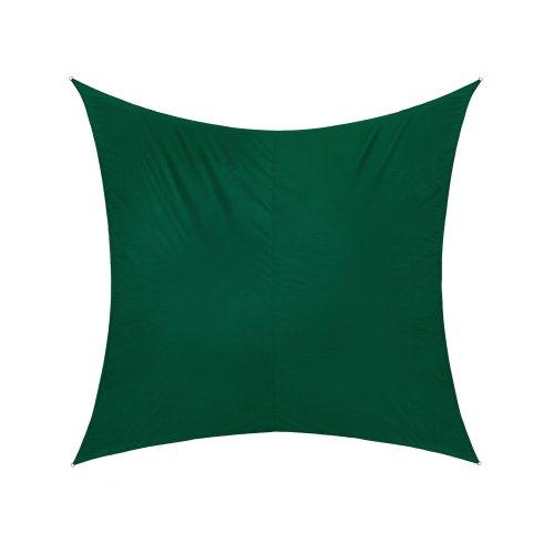 Jarolift Voile d'ombrage | Toile d'ombrage | Carré | Tissu imperméable à l'eau | 300 x 300 cm, vert