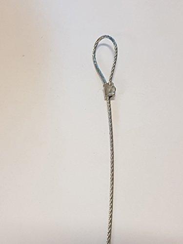 20kg strapazierfähige Draht Seil Kabel Schlaufe 1,5mm dick 2Meter (18.56Füße) (Draht-schlaufen)