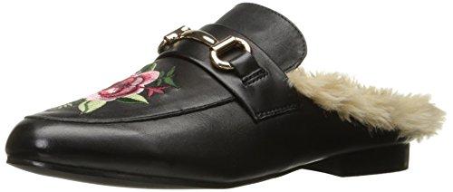 Steve Madden Women's Jill-p Slip-on Loafer, Black/Multi, 6 M US