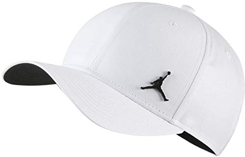 a0ba20afee Nike Jordan CLC99 Metal Jumpman Hat, White/Black, One Size