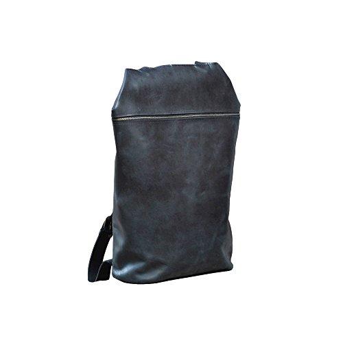 Leder Rucksack schwarz. Saddleback Rucksack für Frauen oder Männer. Laptoptasche (Hobo Clava)