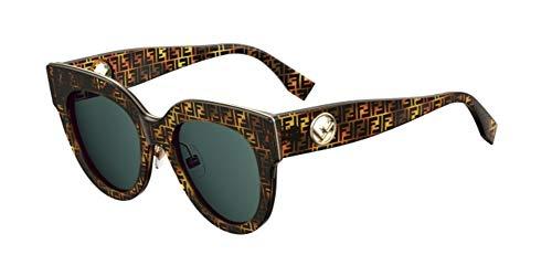 Fendi occhiali da sole f is ff 0360/g/s tortoise/blue green donna
