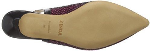 Zinda - 2281, Scarpe col tacco con cinturino a T Donna Nero (Schwarz (Fucsia))