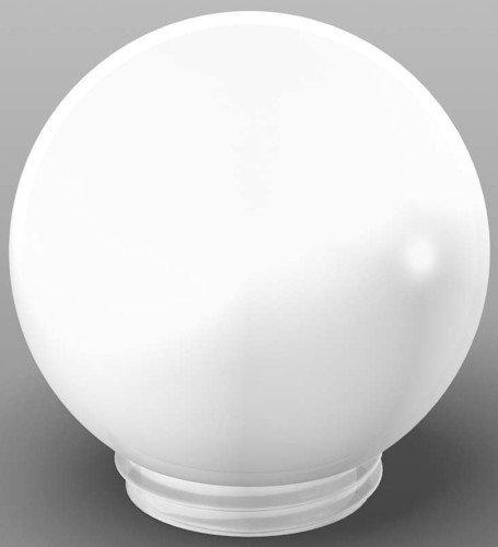 RZB Gewindeglas-Kugel Opal Gl 84,5Mm 05-56150, Plastik, Weiß, 13 x 8 x 3 cm