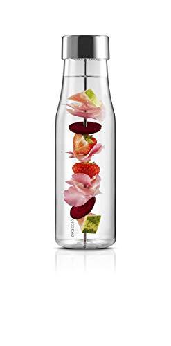Eva Solo 567483 Wasserkaraffe mit Fruchtspieß, Edelstahl, 1 L, Glas, 35 x 30 x 25 cm