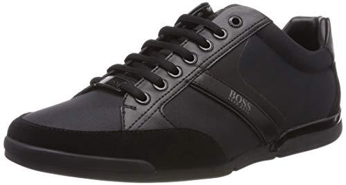 Cabrio Pan (BOSS Herren Saturn_Lowp_MX Sneaker, Schwarz (Black 001), 45 EU)