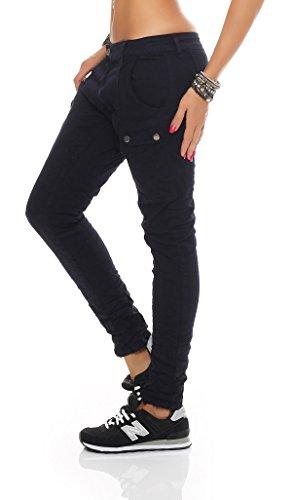 SKUTARI - Damen Denim Jeans - Boyfriend, Loose Fit, Stretch Blau 1