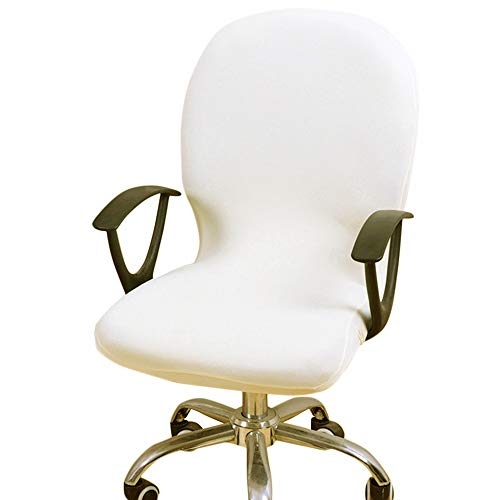 Fulllove coprisedia da ufficio coprisedia elasticizzato separato e rimovibile,in stile semplice e moderno,per computer sedie da ufficio girevoli con braccioli (sedia non inclusa) (beige)