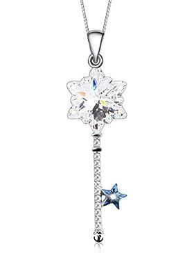 J.Rosée® Kette Damen Swarovski Kristall Halskette Anhänger Schmuck 925er Sterling Silber 5A Zirkonia