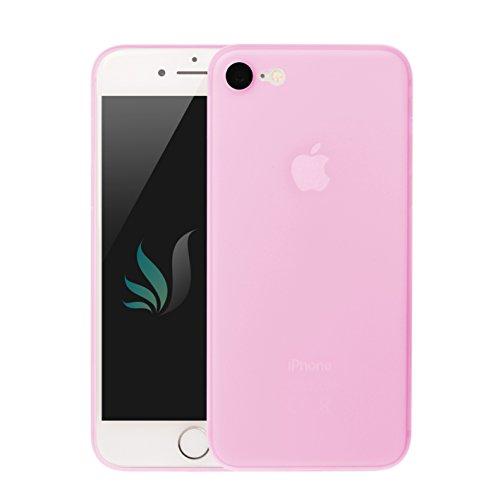 IPhone 8 / IPhone 7 Design Hülle Matt Pink/Rosa [transparent] i-Spring 0.35mm höchste Qualität Ultra dünn Passt perfekt Handy Schutzhülle Bumper Case 4.7 Zoll (Pink)