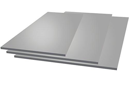 Chapa aluminio, 250 mm x 250 mm x 2 mm, 2000