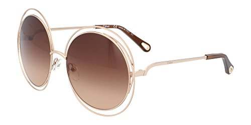 Chloè ce114sd occhiali da sole, marrone (rose gold/transparent bro), 58 donna
