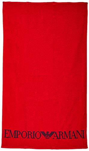 Emporio Armani Serviette Homme - Rouge (Rosso 00074) - Small
