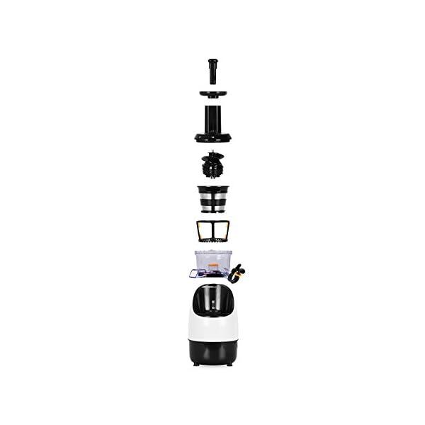 Duronic JE2 Estrattore di succo a freddo di frutta e verdura 220 W - Spremitura lenta 80 giri/minuto e senza lame - Pennello per pulizia inclusa - Per succhi di frutta e verdura fatti in casa - 2020 -
