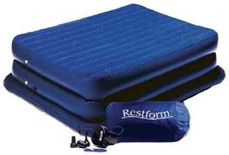 with Built-In Electric Pump Aerobed Raised King Flocked Airbed Mattress UK
