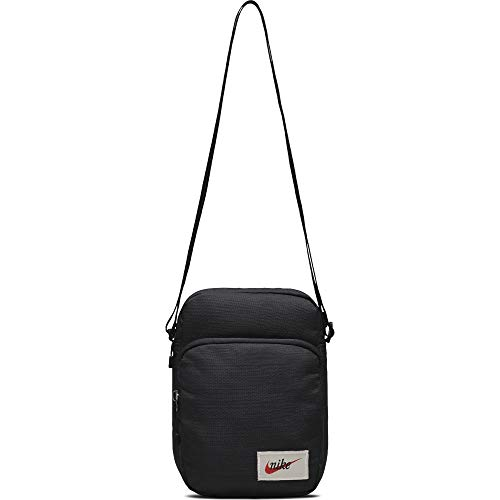 Nike Heritage Smit Tasche, Black/Orange Blaze, One Size - Heritage Tasche