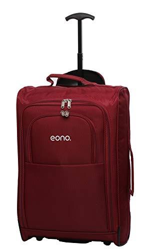 Eono Essentials Trolley Bagaglio a Mano a Due Ruote Leggero, 55 cm, 42 liters, Vino