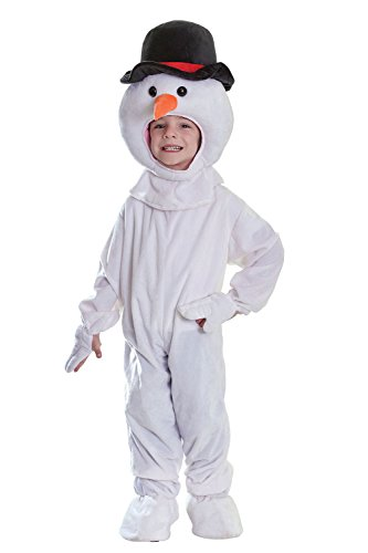 Kinder Schneemann Big Head Frosty Weihnachten New Kids Fancy Kleid Kostüm (Fancy Dress Land Kostüme Welt)