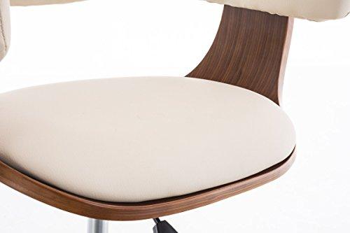 Clp sedia ufficio brÜgge in legno e similpelle poltroncina